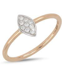 Bony Levy - 18k White & Rose Gold Diamond Detail Marquise Ring - Lyst