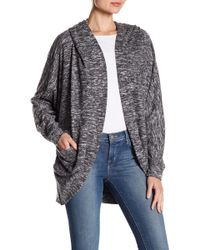 Angie - Soft Heather Knit Open Jacket - Lyst