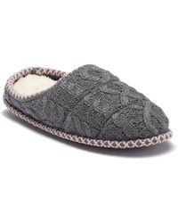 Dearfoams - Quilted Cable Knit Clog (women) - Lyst