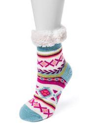 Muk Luks - 1-pair Fluffy Cabin Socks - Lyst