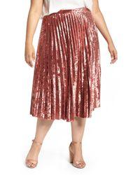 Glamorous - Velvet Pleat Skirt - Lyst