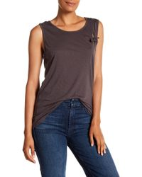 Michael Stars - Knotted Tie Tank - Lyst