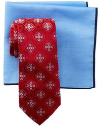 Ted Baker - Floral Frame Medallion Silk Tie & Pocket Square - Lyst