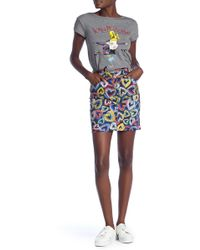 Love Moschino - Gonna Tubino Cuori Skirt - Lyst