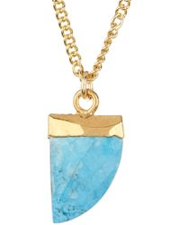 A.V. Max - Turquoise Talon Pendant Necklace - Lyst