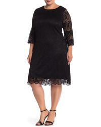 Sharagano - Fit & Flare Lace Dress (plus Size) - Lyst