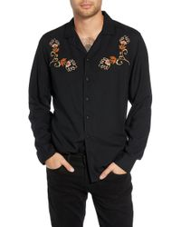The Rail - Embroidered Woven Shirt - Lyst