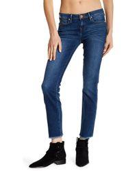 True Religion - Sara Fray Hem Cropped Cigarette Jeans - Lyst