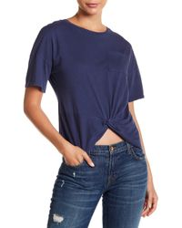 Lucky Brand - Twist Front Tee - Lyst