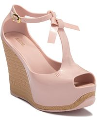0571e3d15e7 Melissa Mar Wedge Sandals in Pink - Lyst