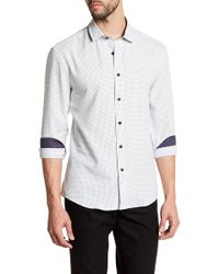 Vince Camuto - Check Trim Fit Sport Shirt - Lyst
