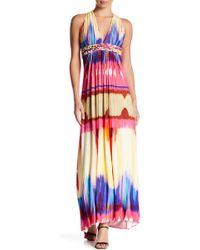 Sky - Lyrica Printed Maxi Dress - Lyst