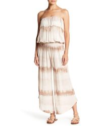 Young Fabulous & Broke - Aviana Strapless Tie Dye Jumpsuit - Lyst