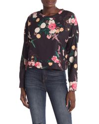 Love, Fire - Floral Cropped Crew Sweatshirt - Lyst