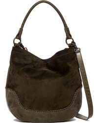 Frye - Melissa Suede And Leather Hobo - Lyst