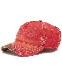 True Religion - Raised Logo Denim Baseball Cap - Lyst