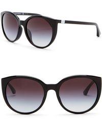 Emporio Armani - 55mm Round Sunglasses - Lyst
