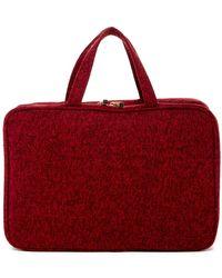 Kestrel - Boucle Red Weekend Organizer Bag - Lyst