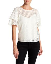 The Kooples - Lace Flower Top - Lyst