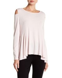Cece by Cynthia Steffe - Long Sleeve Cold Shoulder Tee - Lyst