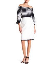 J.Crew | Scalloped Linen Pencil Skirt | Lyst