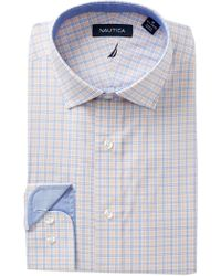 Nautica - Coral Check Classic Fit Dress Shirt - Lyst