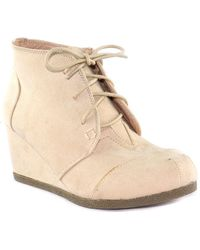 In Touch Footwear - Spencer Wedge Bootie - Lyst