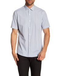 Robert Barakett - Esterel Short Sleeve Woven Shirt - Lyst