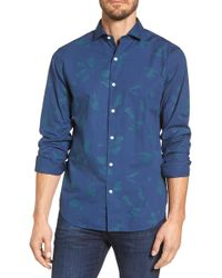 Bonobos - Unbutton Down Slim Fit Abstract Print Sport Shirt - Lyst