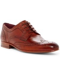 070f6e4ae7174d Ted Baker - Gryene Leather Wingtip Derby - Lyst