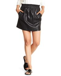 Splendid - Faux Leather Paperbag Skirt - Lyst
