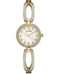 Bulova - Women's Swarovski Crystal Embellished Bracelet Watch, 26mm - Lyst