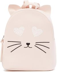 T-Shirt & Jeans - Glitter Heart Eyes Cat Small Backpack - Lyst