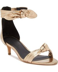 Rebecca Minkoff - Kaley Metallic Leather Sandal - Lyst