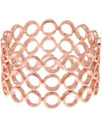 Bony Levy - 14k Rose Gold Triple Row Open Circle Ring - Lyst