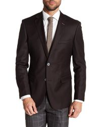 English Laundry - Brown Two Button Notch Lapel Wool Suit Separates Jacket - Lyst