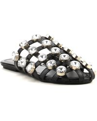 Cape Robbin - Coma Embellished Cage Mules - Lyst