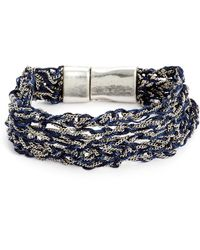 Treasure & Bond - Treasure&bond Thread Layer Chain Thread Bracelet - Lyst