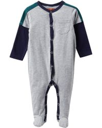 7 For All Mankind - Embroidered Pocket Footies (baby Boys) - Lyst