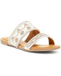 Not Rated - Spira Beaded Slide Sandal - Lyst