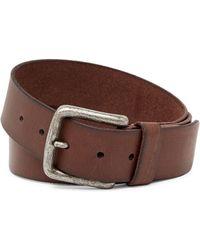 Frye - Pebble Panel Burnished Leather Belt - Lyst