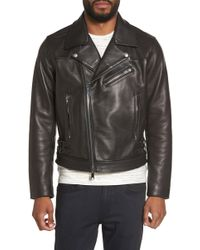 Calibrate - Leather Moto Jacket - Lyst