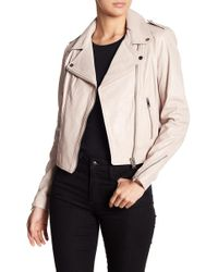 Lamarque - Donna Leather Biker Jacket - Lyst