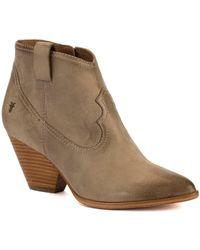 Frye | Reina Leather Bootie | Lyst