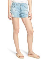 AG Jeans - Bryn High Waist Cutoff Denim Shorts - Lyst
