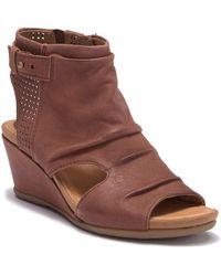 Earth - Sweetpea Leather Wedge Sandal - Lyst