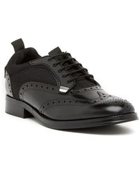 Steve Madden - Portor Brogued Lace-up Leather Derby - Lyst