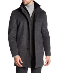 Cardinal Of Canada - Wool Double Stand Up Collar Peacoat - Lyst
