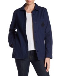 RVCA - Bygone Button Down Jacket - Lyst