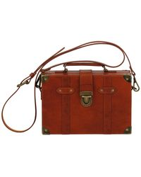Most Wanted Usa - Lily's Trunk Box Leather Crossbody - Lyst